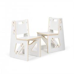 PAAZA Kids Chairs, White, 2...